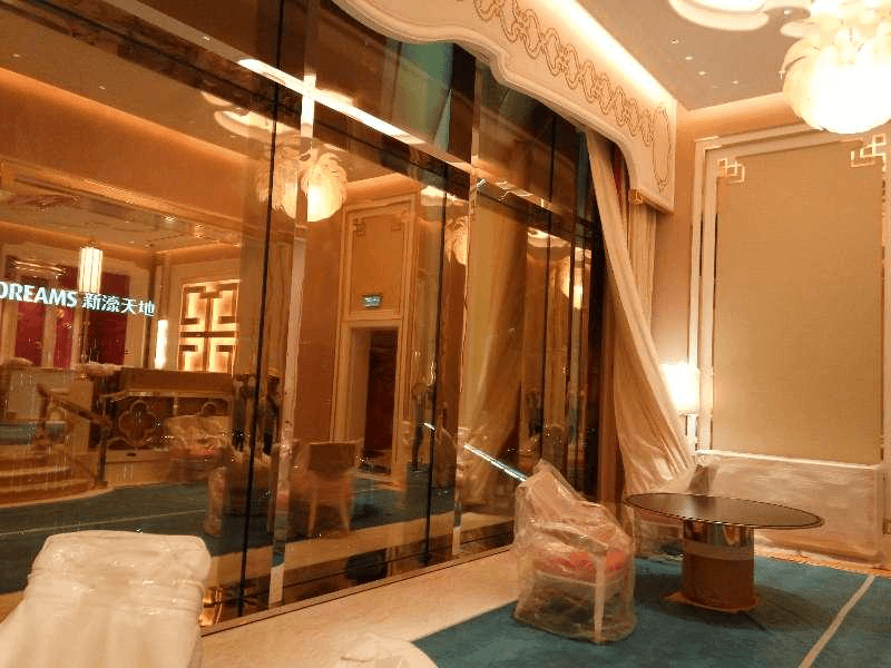 We had supplied golden stainless steel sheet for Wynn Palace interior decoration.