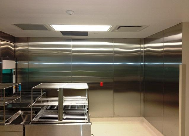 functional stainless steel wall cladding